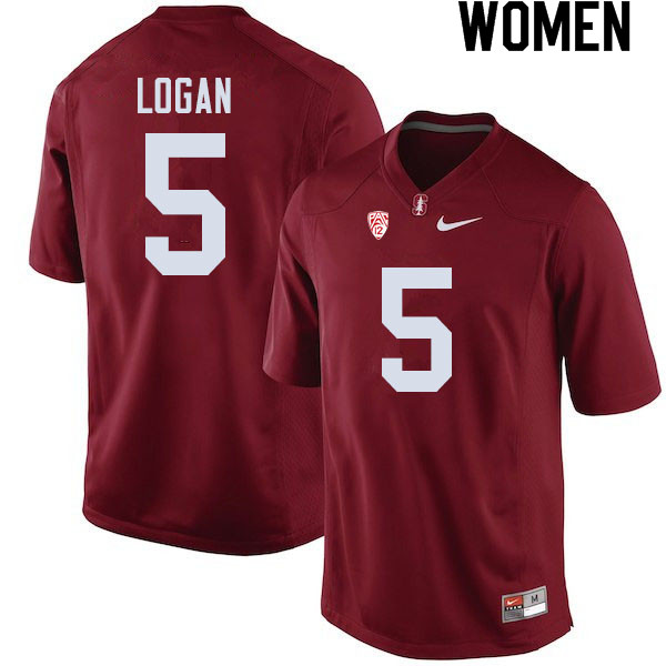 Women #5 Donjae Logan Stanford Cardinal College Football Jerseys Sale-Cardinal